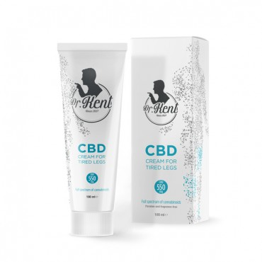 Dr. Kent CBD Cream 100ml (550mg CBD) - for TIRED LEGS