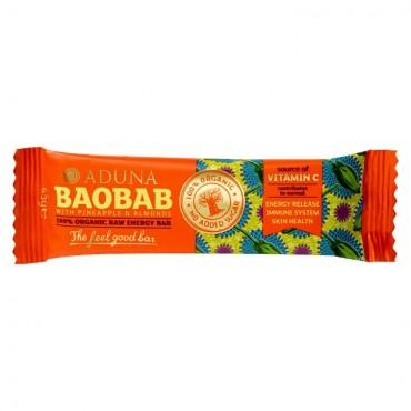 Aduna Baobab Pineapple & Almond Bar 45g