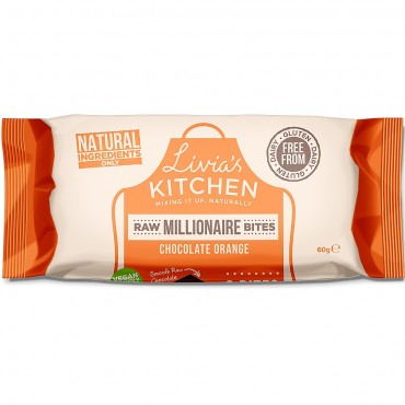 Livia's Kitchen Raw Millionaire Bites Chocolate Orange 60g