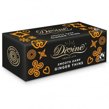 Divine Dark Chocolate Ginger Thins 200g
