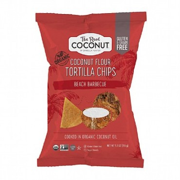 The Real Coconut Beach BBQ Coconut Flour Tortilla Chips 155g