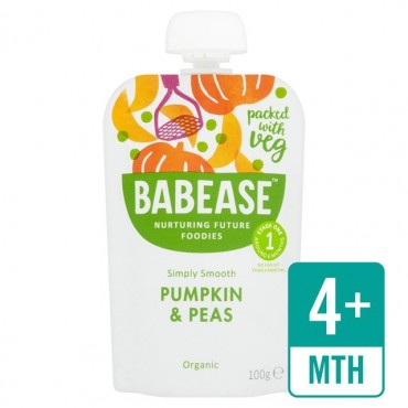 Babease Pumpkin & Peas 8x100g