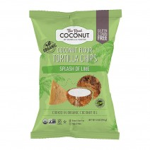 The Real Coconut Tortilla Chips Splash of Lime 12 x 155g