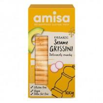 Amisa Sesame Grissini Organic 8 x 100g
