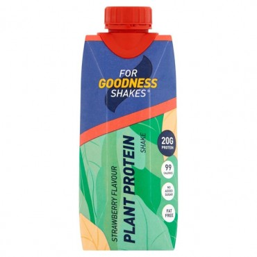For Goodness Shakes Plant Protein Strawberry 330ml