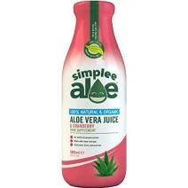 Simplee Aloe Cranberry Aloe Vera Juice 500ml