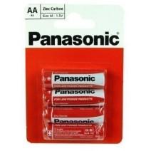 Panasonic Zinc Carbon AA Batteries 4 Pack