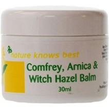 Nature Know's Best Comfrey, Arnica & Witch Hazel Balm 30ml