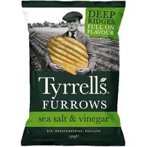 Tyrrell's Furrows Sea Salt & Vinegar Crisps 12 x 150g