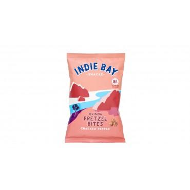 Indie Bay Quinoa Pretzel Bites Cracked Pepper 160g