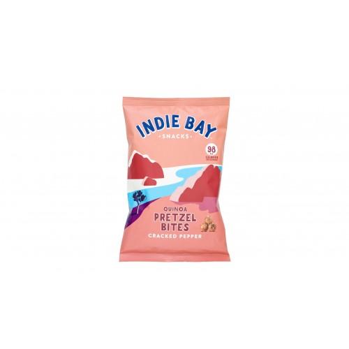 Indie Bay Snacks Quinoa Pretzel Bites with Cracked Pepper 160g