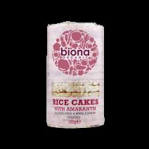 Biona Rice Cakes Organic Amaranth 12 x 100g