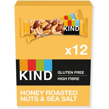 Kind Honey Roast Nuts & Sea Salt Bars 40g x 12