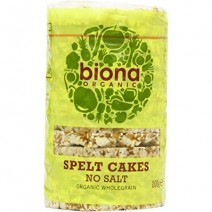 Biona Spelt Cakes Organic No Salt 12 x 100g