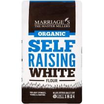 Marriages Self Raising Organic White Flour 6 x 1kg