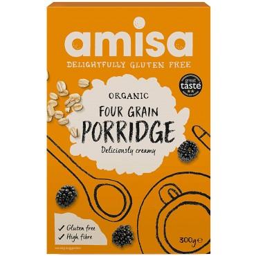 Amisa GF 4 Grain Porridge Org 6 x 300g