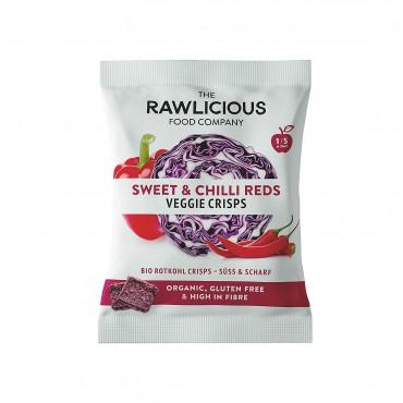 The Rawlicious Food Company Sweet & Chilli Reds Veggie Crisps 40g
