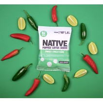 Native Snacks Sweet Chilli & Lime Popped Lotus Seeds 9 x 20g