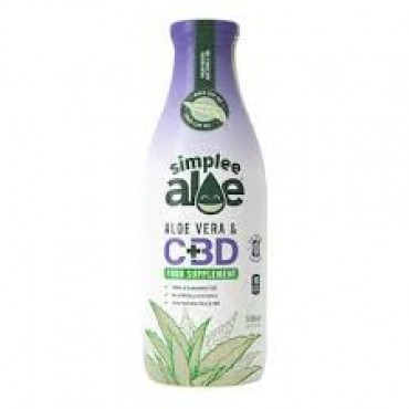 Simplee Aloe Organic Aloe Vera with CBD 6 x 500ml