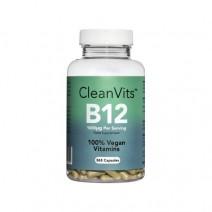 Clean Vits Vitamin B12 (Methylcobalamin) 1000mcg (365 capsules per tub/1 year supply)