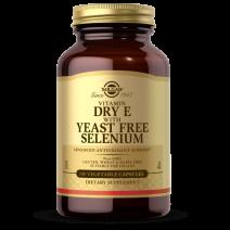 Solgar Vitamin E (168mg) with Yeast Free Selenium (75mcg) 100 Vegetable Capsules
