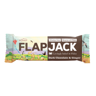 Brynmor GF Dark Chocolate & Ginger Flapjack 20x40g