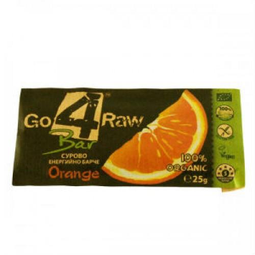 Go 4 raw orange cocoa bar 50g for Food bar orange