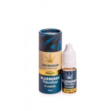 Love Hemp Blueberry Menthol E Liquid 300mg CBD 10ml
