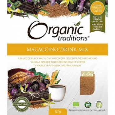 Organic Traditions Organic Macaccino Drink Mix 227g