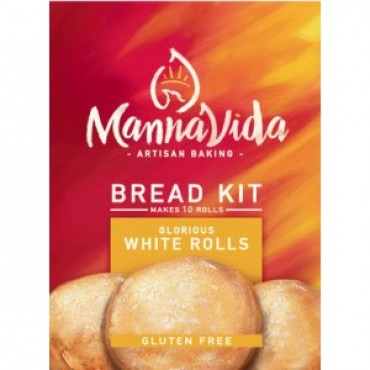 Mannavida Gluten Free Glorious White Bread Rolls Mix 415g