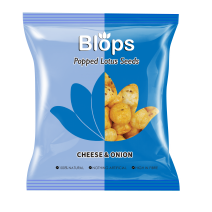 Blops Cheese and Onion Popped Lotus Seeds Pack of 24