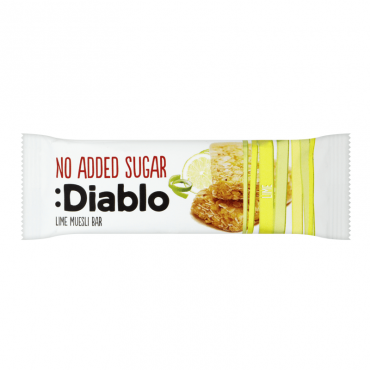 Diablo No Added Sugar Muesli Bar Lime 28 Pieces