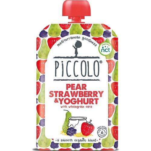 Piccolo Pear, Strawberry & Yoghurt Baby Food 100g