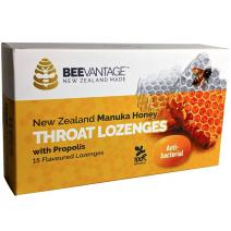 BeeVantage New Zealand Manuka Honey Throat Lozenge with Propolis (15 Lozenge) x 3