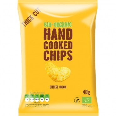 Trafo Organic Cheese & Onion Crisps 40g