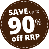 Save up to 90% off RRP