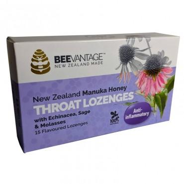 BeeVantage New Zealand Manuka Honey Throat Lozenge (15 Lozenges) x 3