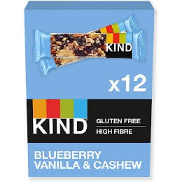 Kind Blueberry Vanilla & Cashew Bars 12 x 40g