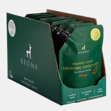 Broma Organic Cacao Drinking Chocolate - Orange 10 x 250ml Pouches