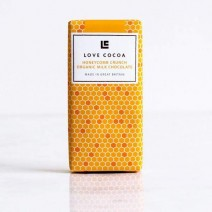 Love Cocoa Honey Comb Crunch Organic Milk Chocolate 30g