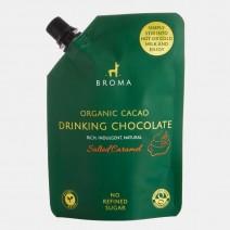 Broma Organic Cacao Drinking Chocolate - Salted Caramel 10 x 250ml