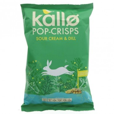 Kallo Pop Crisps Sour Cream & Dill 85g