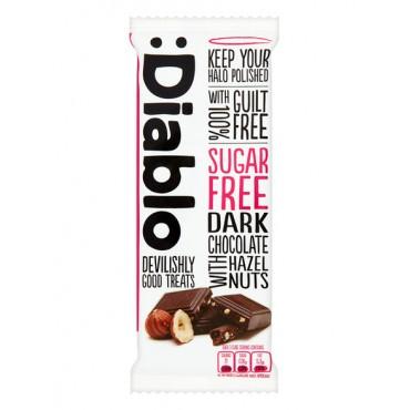 Diablo Sugar Free Dark Chocolate with Hazelnuts 85g
