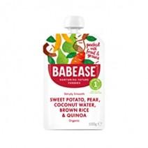 Babese Organic First Tastes Sweet Potato, Pear & Quinoa 8 x 100g