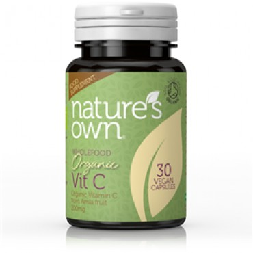 Nature's Own Organic Vitamin C 30 Vegan Caps