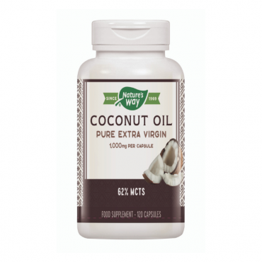 Nature's Way Extra Virgin Cocont Oil Capsules 1000mg 120 Capsules
