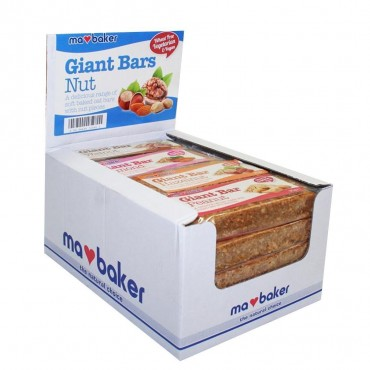 Ma Baker Giant Bars Mixed Case (Nuts) 20 x 90g