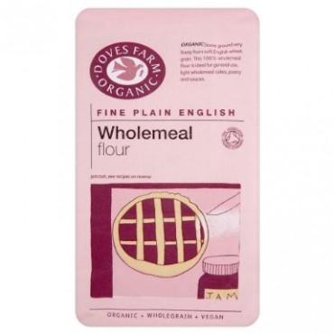 Doves Farm Organic Plain Fine Wholemeal Flour 1kg