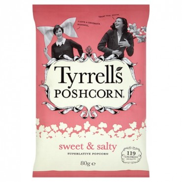 Tyrrells Sweet & Salty Popcorn 80g