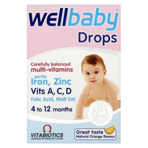 Vitabiotics Wellkid Baby Drops Liquid 30ml